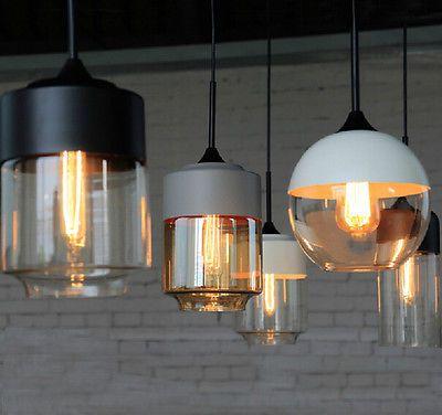 Modern Design DIY Metal & Glass Ceiling Lamp Light Pendant