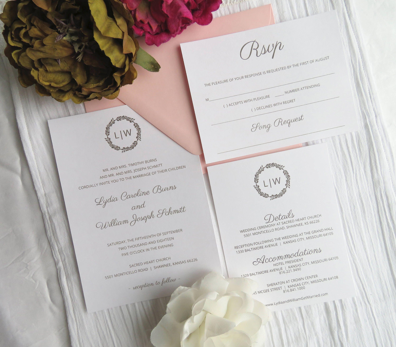 Wedding Invitation Suite Template   Instant Download PDF - Printable ...