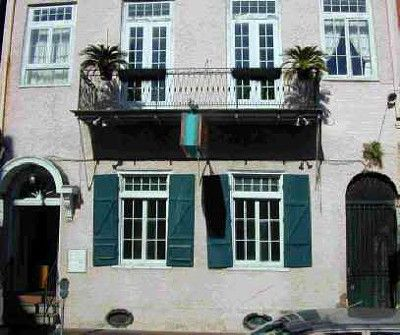 Petunias Located In The French Quarter In New Orleans, The Building Was  Constructed In 1830