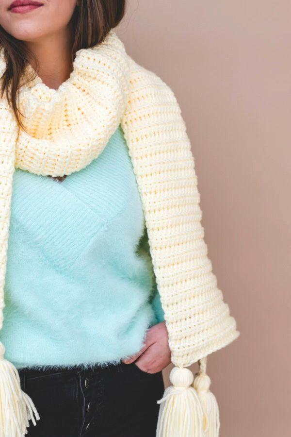 Photo of Crochet Super Simple Vanilla Wrap Scarf • Sewrella