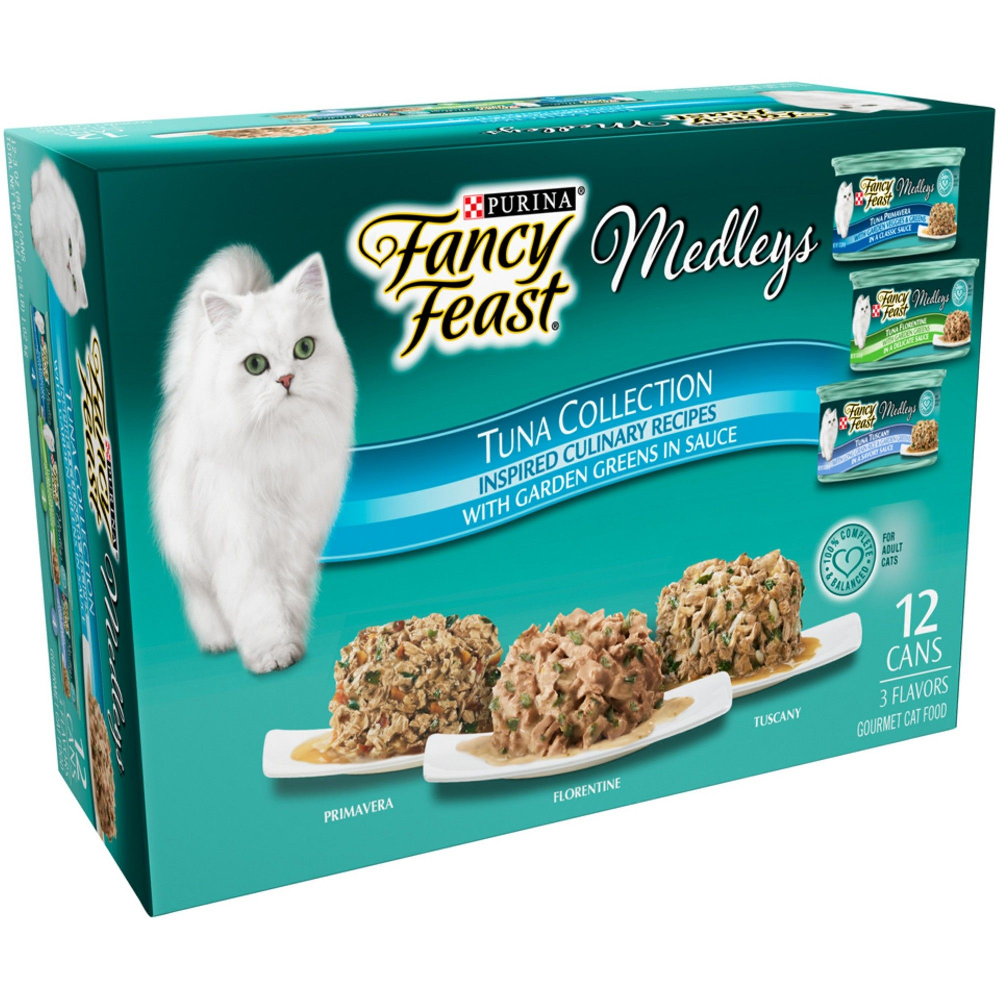 Purina Fancy Feast Elegant Medleys Tuna Recipe Variety