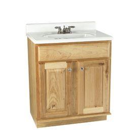 Allen Roth 30 Natural Carson Hickory Natural Bath Vanity Cheap Bathroom Vanities Discount Bathroom Vanities Bathroom Vanity