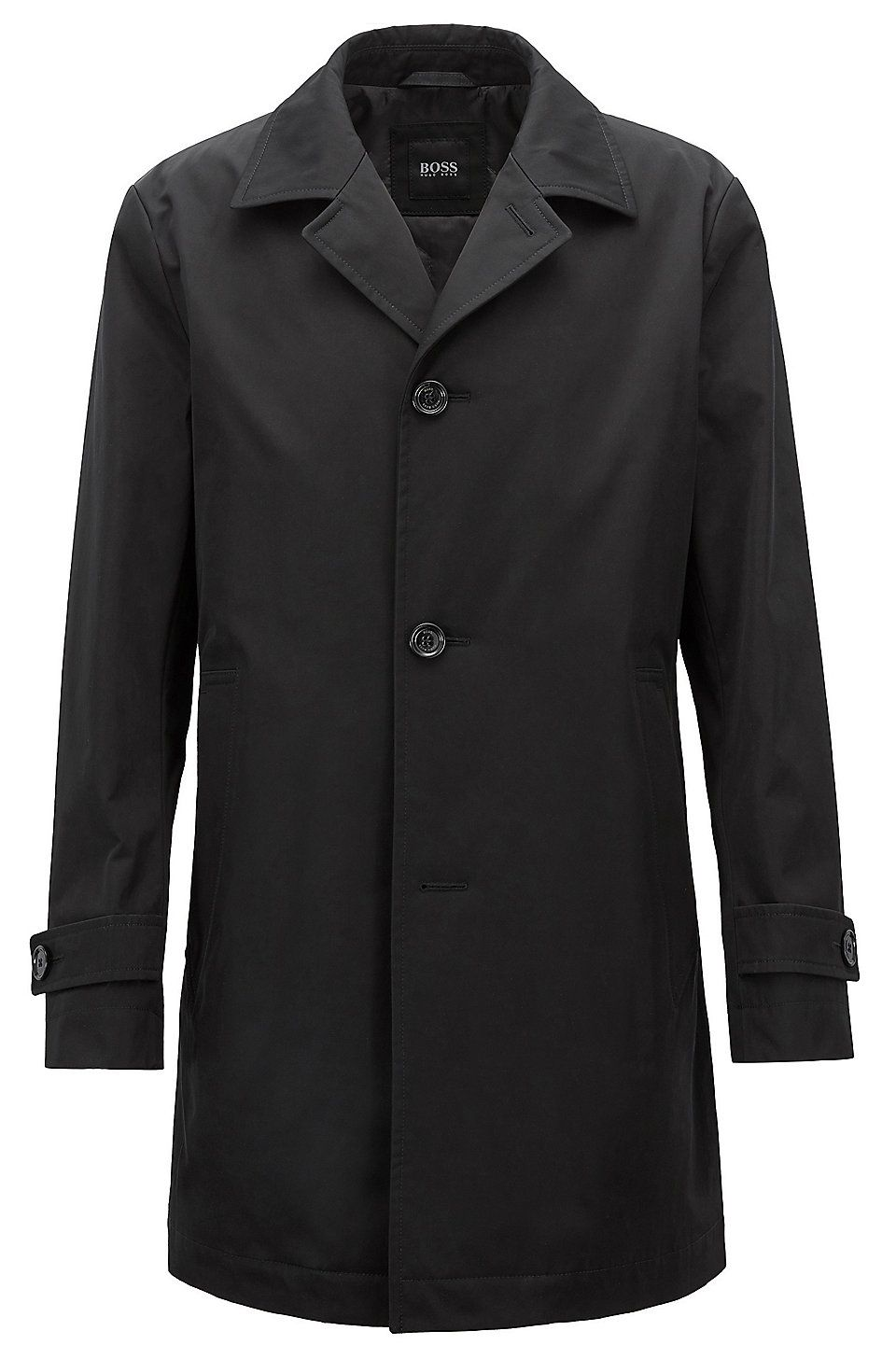 Hugo Boss Car Coat In Water Repellent Technical Twill Black Raincoats From Boss For Men In The Official Hugo Boss Online Car Coat Black Raincoat Jacket Style [ 1456 x 960 Pixel ]