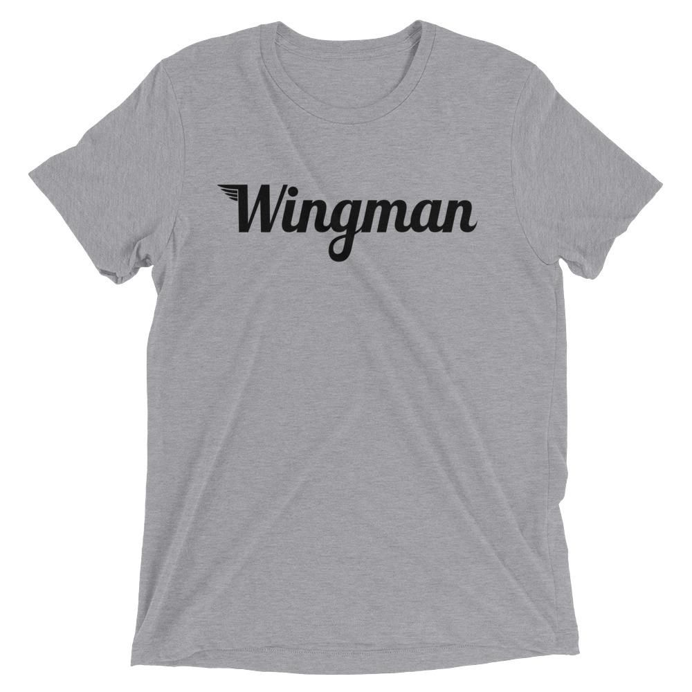 The Wingman Tee – Athletic Grey Triblend / L