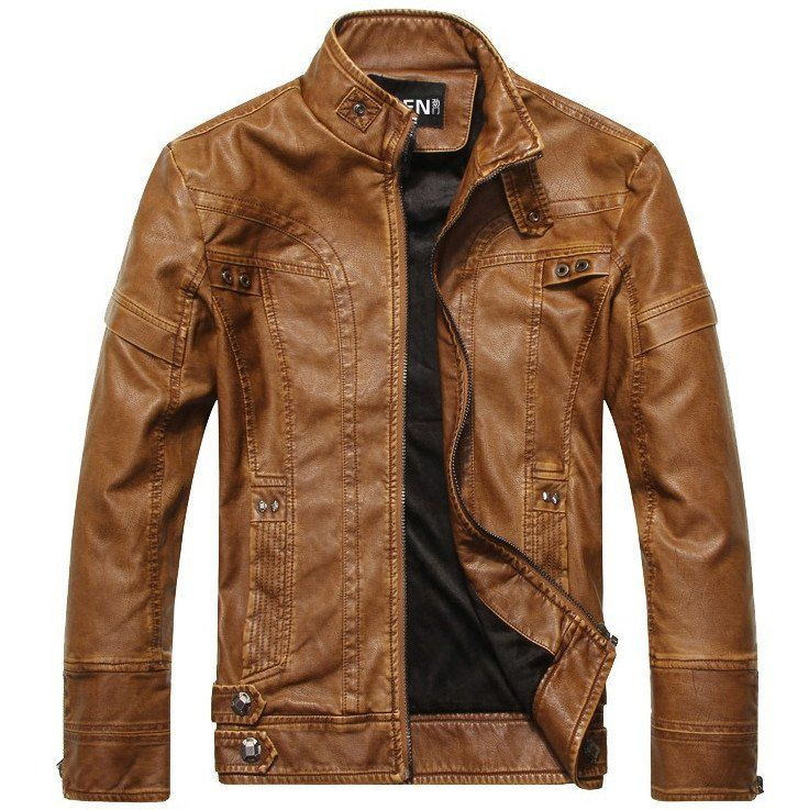 Aeronautical Jacket Light Brown | Men's leather jackets, Men's ...