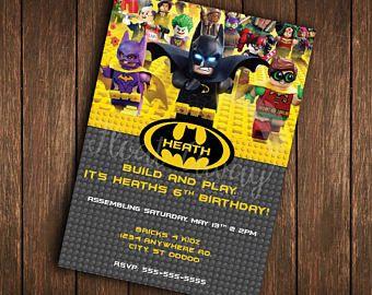Lego Batman Invitation Lego Batman Birthday Lego