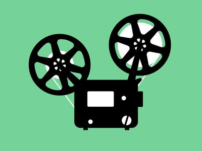Telecine Film Projector Artist Logo Makeup Artist Logo