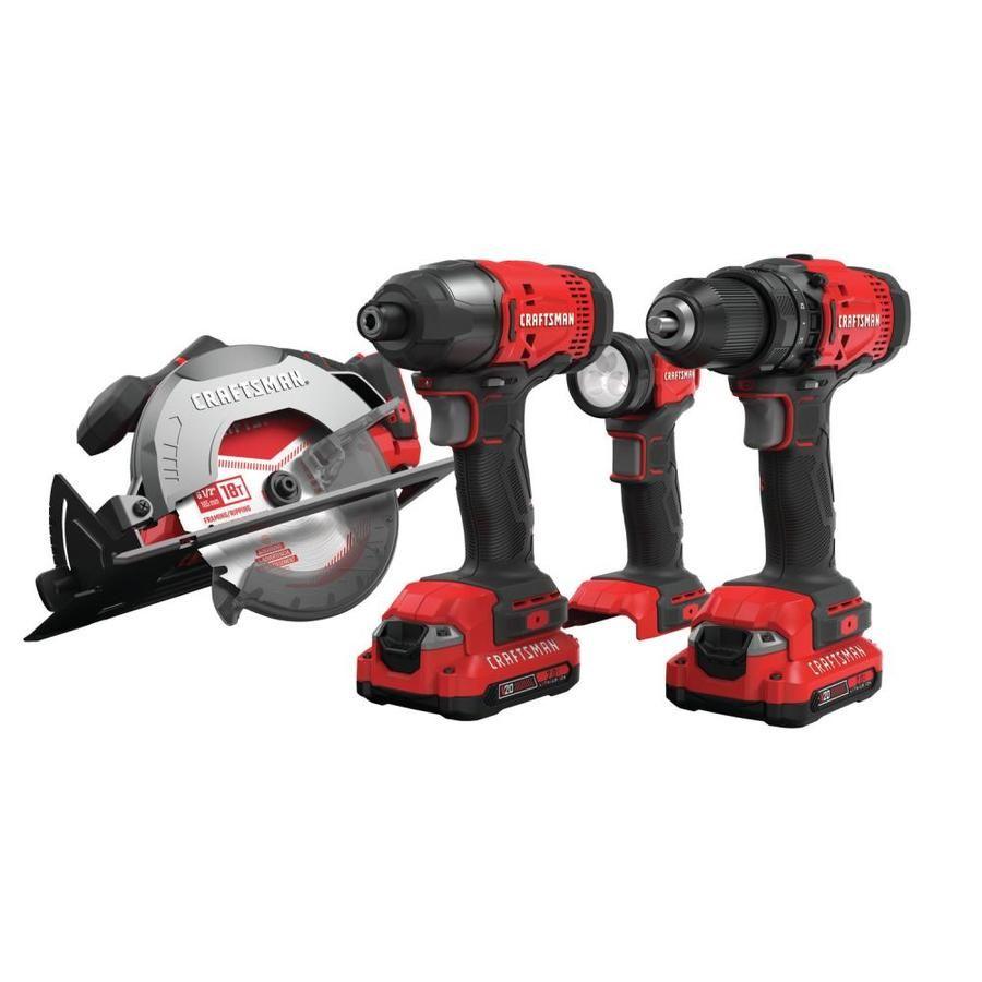 Craftsman V20 4 Tool 20 Volt Max Power Tool Combo Kit In 2020 Combo Kit Power Tools Craftsman Power Tools