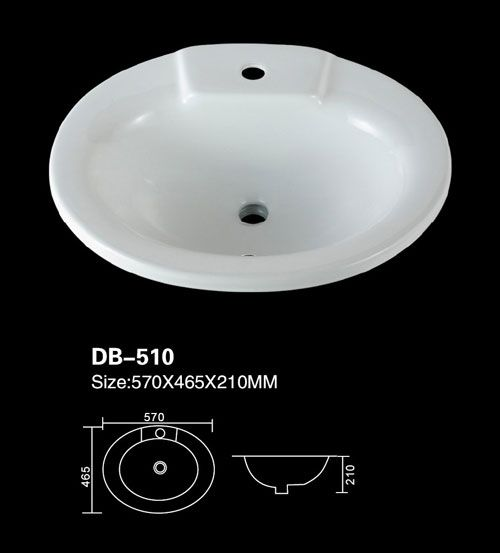 Product Name Wash Basin Counter Model No Db 510 Dimension 570x465x210mm 1 Inch 25 4 Mm Volume 0 071 Cbm Gross We Wash Basin Counter Wash Basin Basin