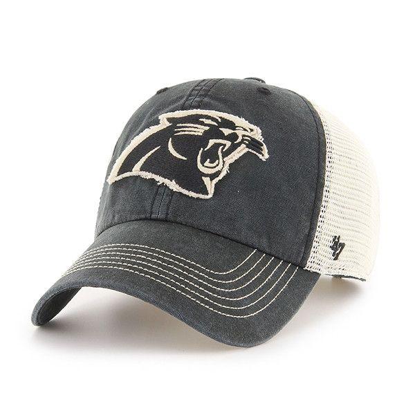 da8d89f66 Carolina Panthers Springfield Clean Up Vintage Black 47 Brand Adjustable Hat