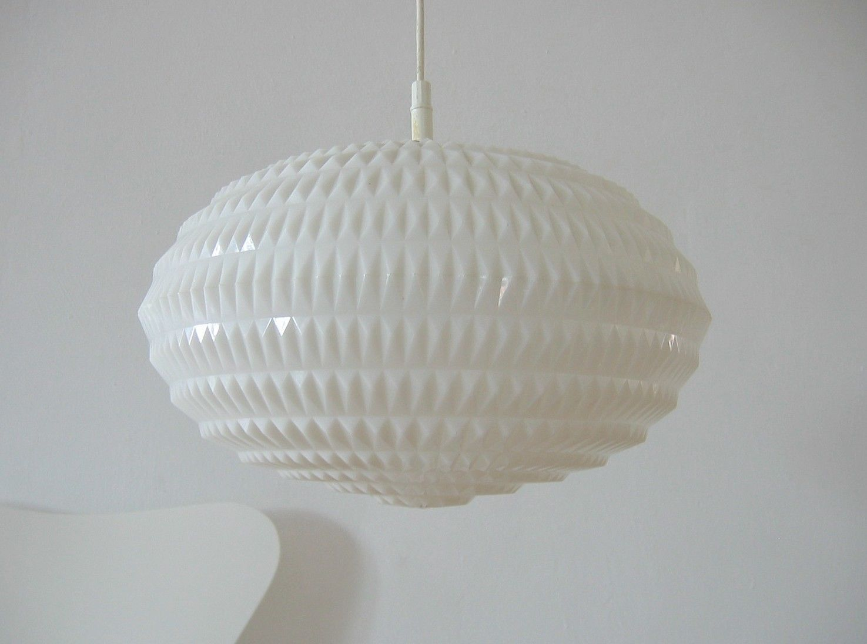 70er geometric erco pendelleuchte mid century ufo lampe. Black Bedroom Furniture Sets. Home Design Ideas