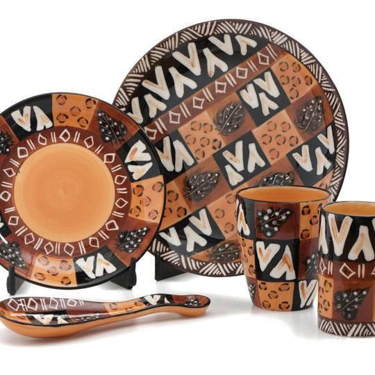 African Painted Ceramics African Inspired Decor African Home Decor Africa Decor