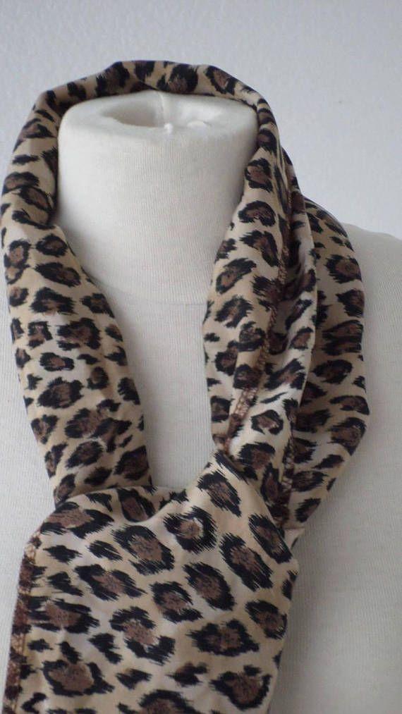 écharpe foulard snood étole femme léopard agréable lin eva   foulard ... 96fe0c21c8a
