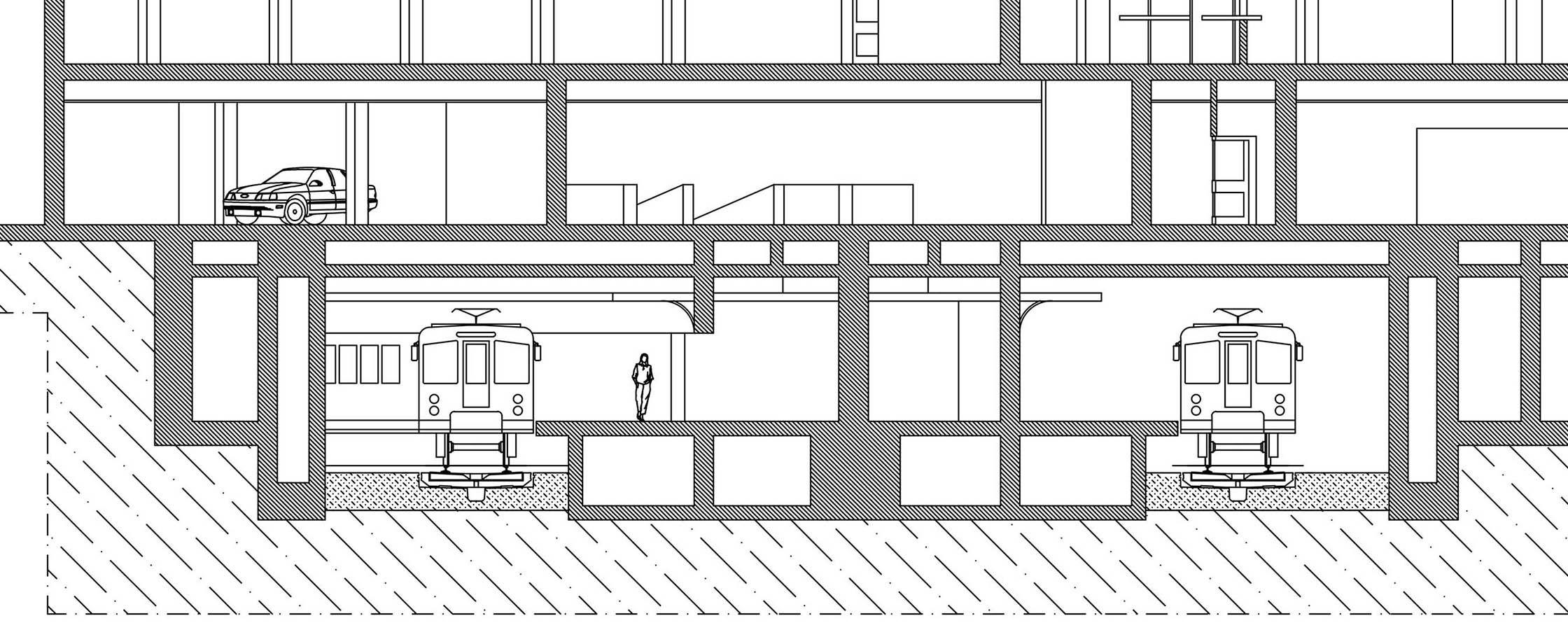Metro Stasyonu Plan Ve Kesit