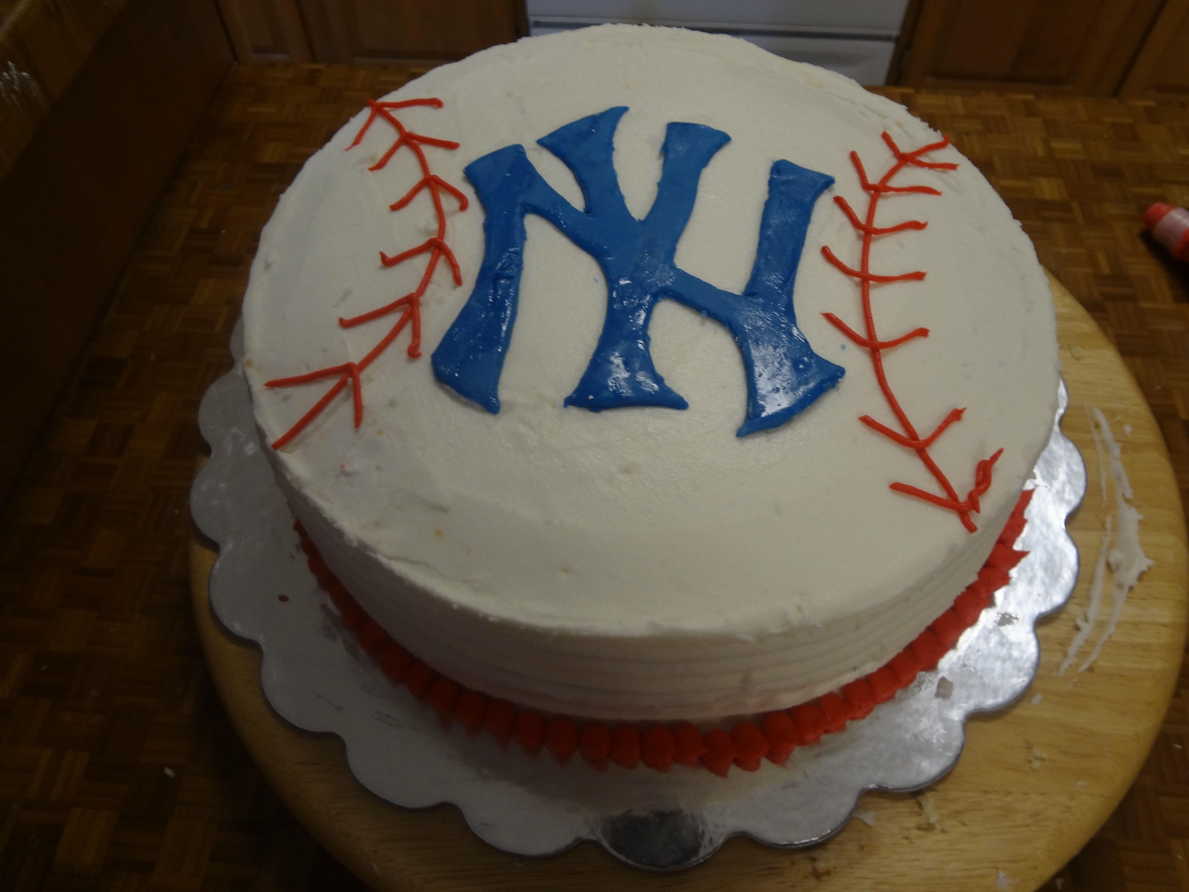 Ny Yankees Baseball Birthday Cake Obviously Problematic