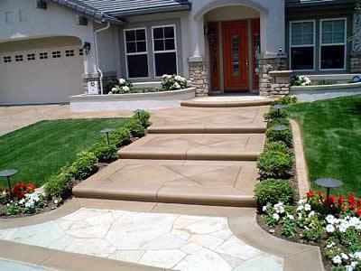 Exterior--Stamped concrete porch steps | Entry--Design Ideas ...