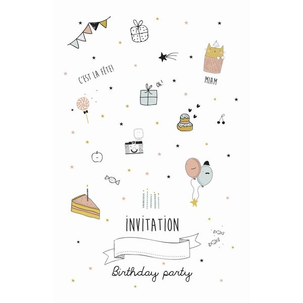 invitation anniversaire fille anniversaires pinterest invitation anniversaire fille. Black Bedroom Furniture Sets. Home Design Ideas