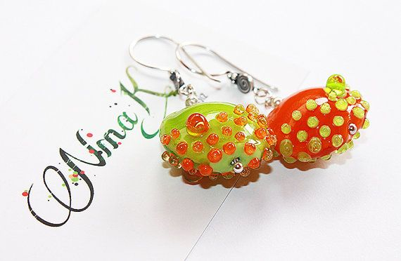 Earrings Ringing of the Spring  Sterling Silver by NinaKjewelry, $71.00