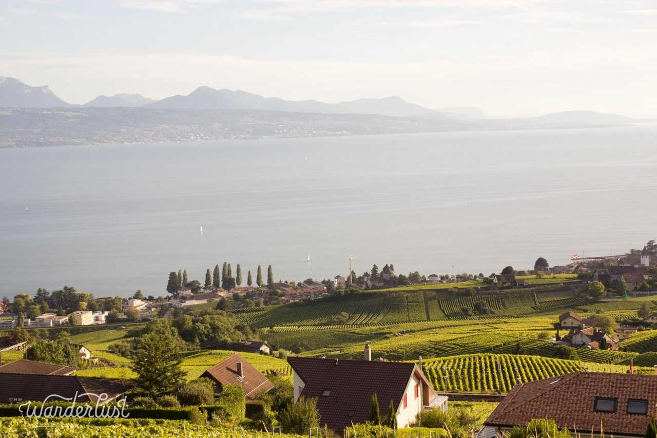 25 km of vineyards, a UNESCO World Heritage site, Lausanne