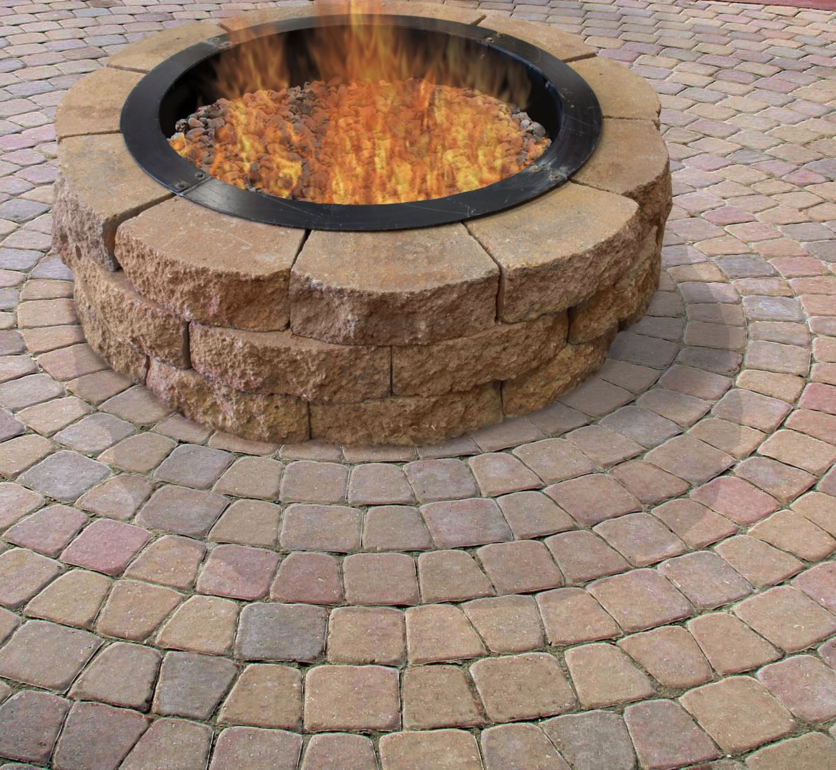 Landscape Patio Menards Patio Blocks For Cozy Your: Turn Up The Heat In Your Yard With The Crestone Fire Ring