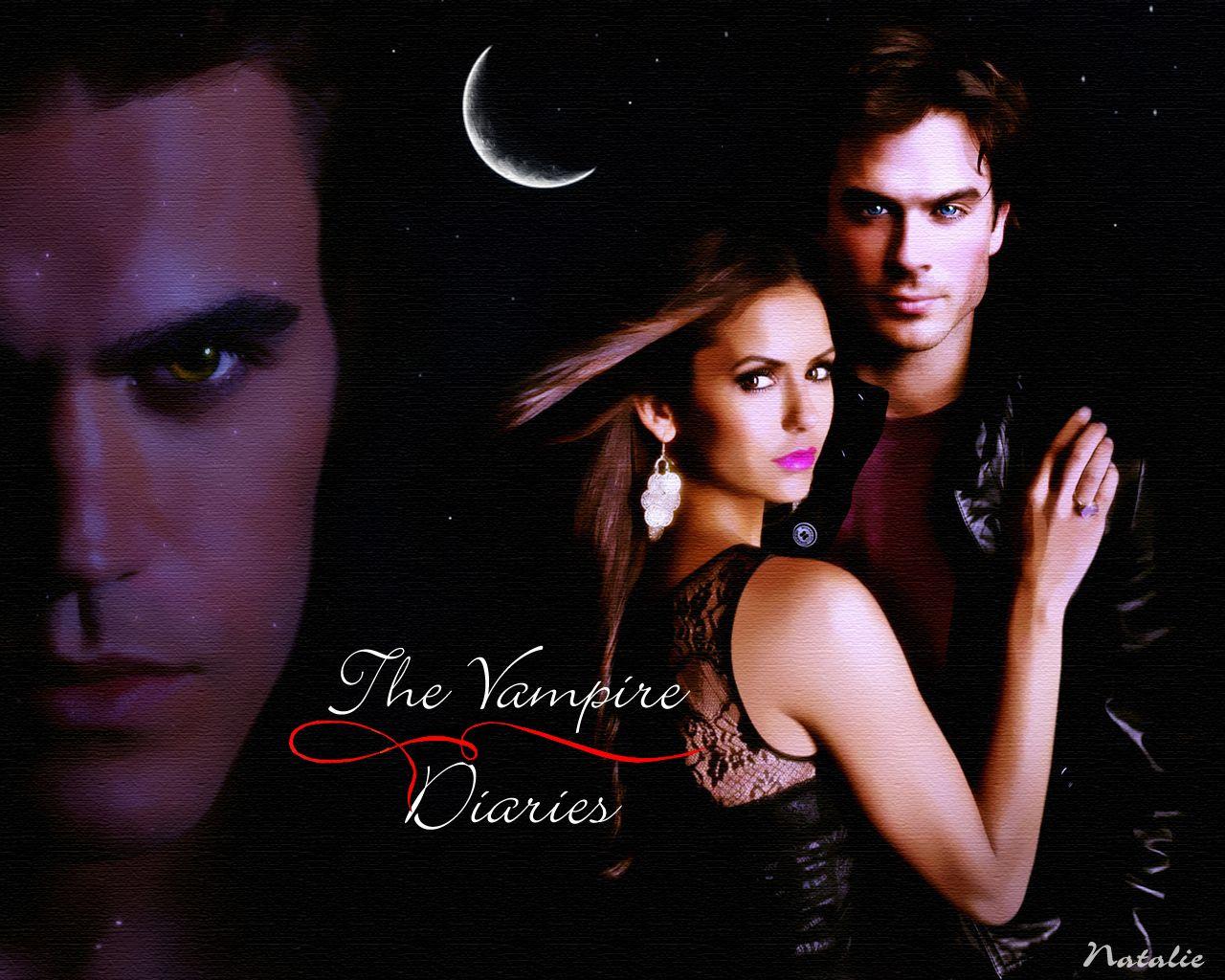 Stefan Elena Damon Vampire Diaries