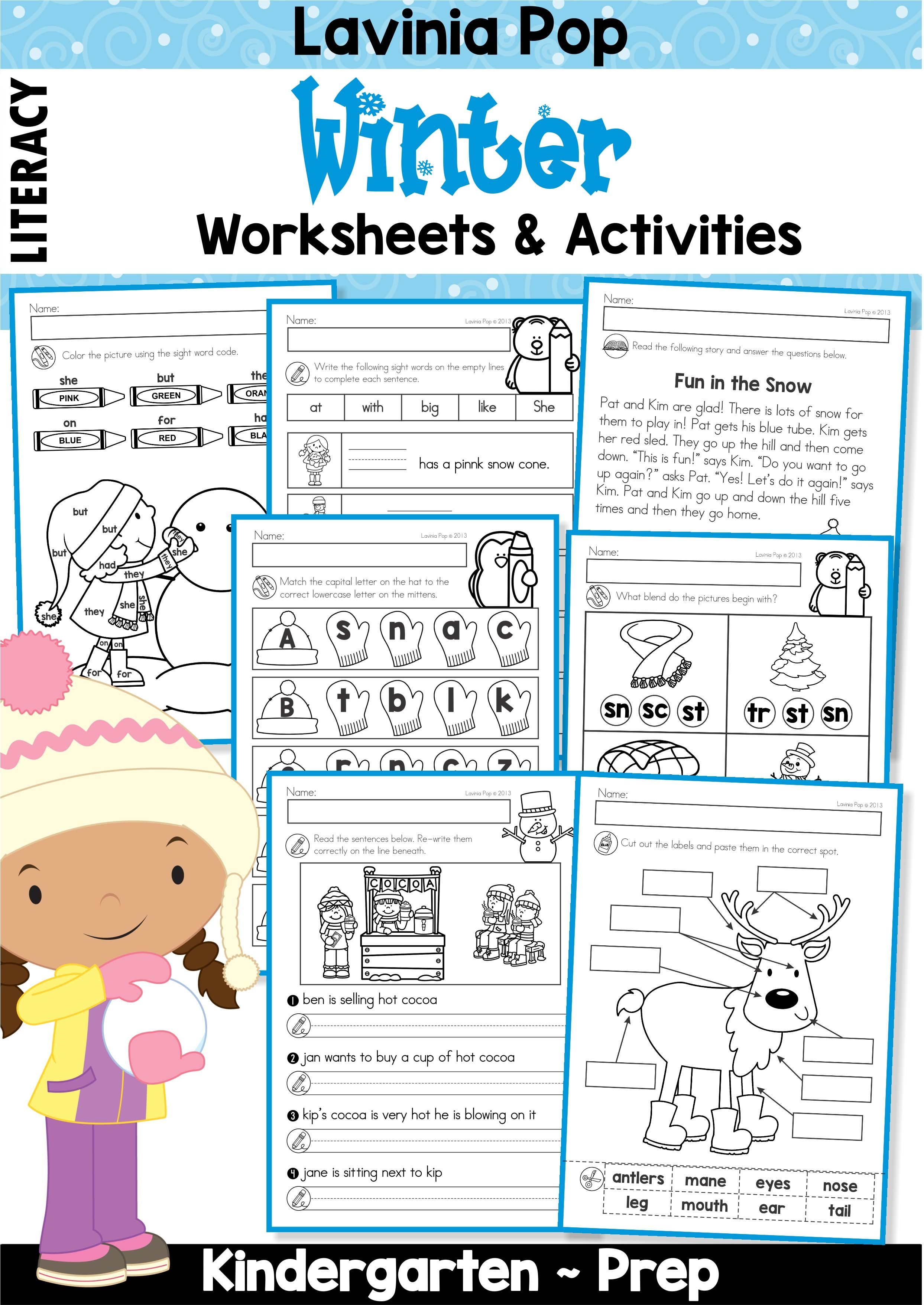 Winter Literacy Worksheets And Activities No Prep With