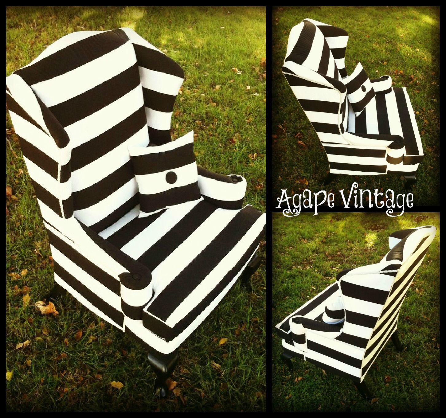 B Stripes Outdoor Blanket Picnic Blanket Vintage