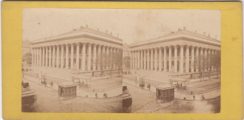STEREOSCOPICA STEREOVIEW-1880 C.A.BOURSE DE PARIS BY CAILLARD -ST 03