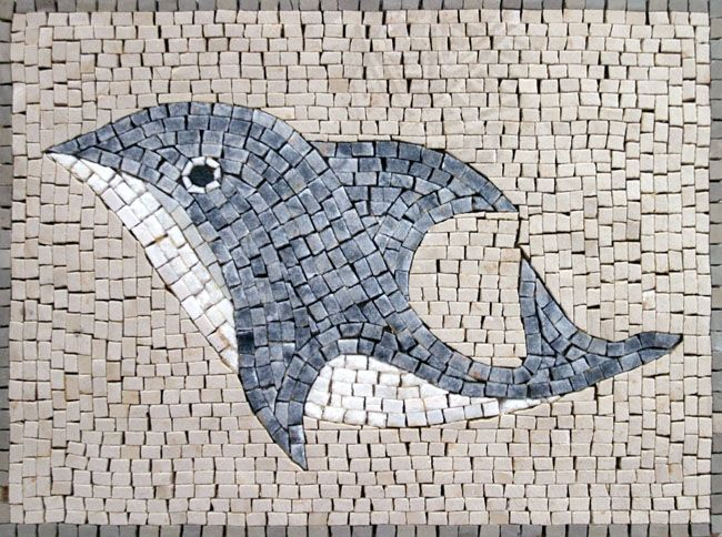 Fish mosaic designs google 39 da ara bal k pinterest for Easy mosaic designs