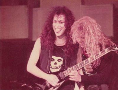 Kirk Hammett and James Hetfield 1986