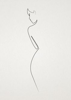 Photo of The Female Line, Black Line Sketches For Living Room | Black Woman Silhouette Dr…