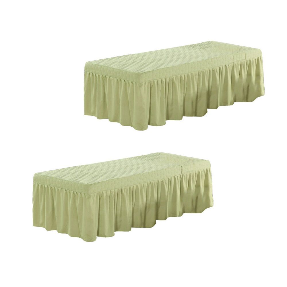 2pcs Hotel Spa Massage Bed Cover Beauty Face Table Valance Sheet White