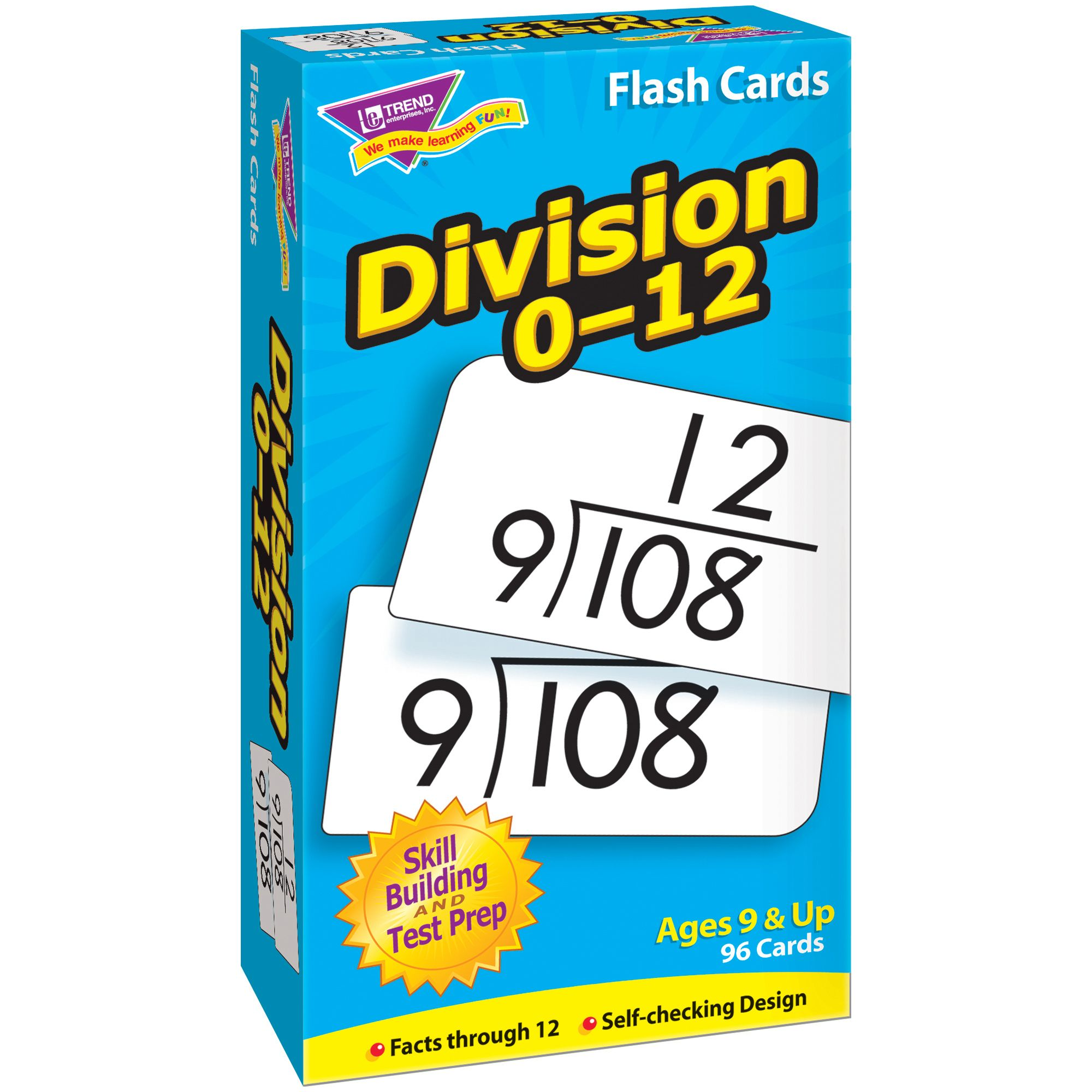 Trend Division 0 12 Skill Drill Flash Cards 3 Packs