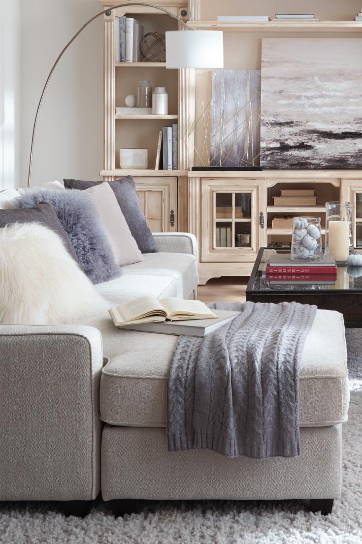 Cozy up a family-forward living space with comfy accent ...