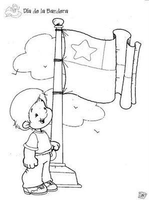Material Didactico Para Las Fiestas Patrias Colorear Dibujos Chile Para Ninos Bandera Para Colorear Dibujos