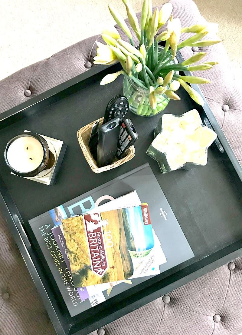 Awe Inspiring Really Easy Ottoman Tray Styling Tips And Ideas That Really Ibusinesslaw Wood Chair Design Ideas Ibusinesslaworg