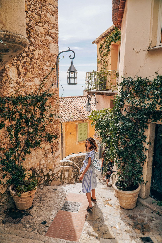 Wandering Eze village in Southern France and enjoying the sunshine. Kraska Fox.