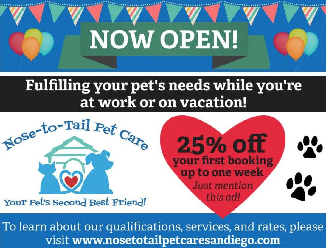 Nose To Tail Pet Care Is Now Open Contact Us Today For Your Pet