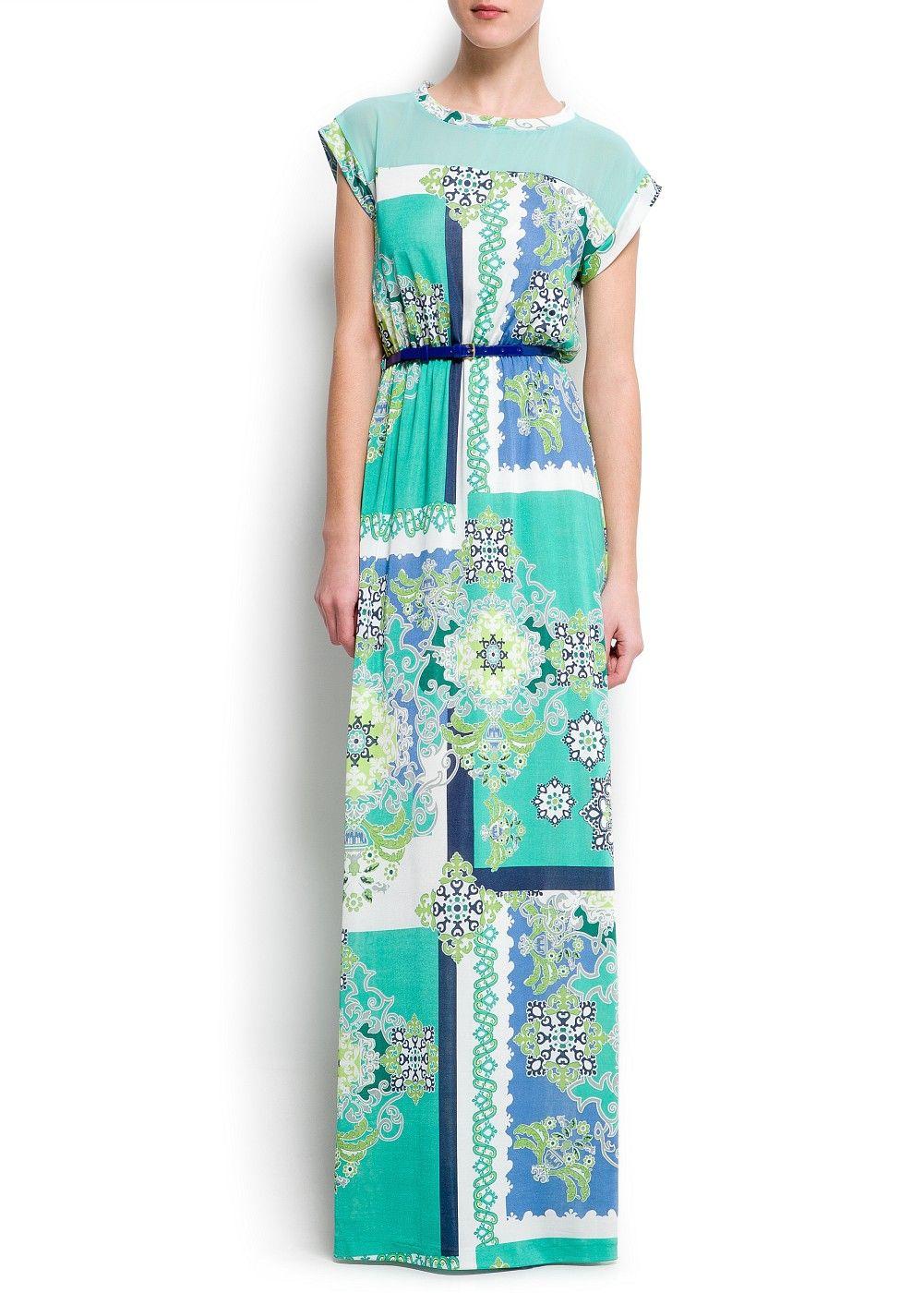 89821ccd1d5 MANGO - VÊTEMENTS - Robes - Maxis - Robe longue imprimé foulard