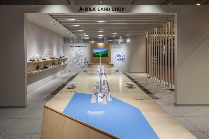 MILK LAND HOKKAIDO→TOKYO flagship shop by Ryusuke Nanki, Tokyo – Japan » Retail…