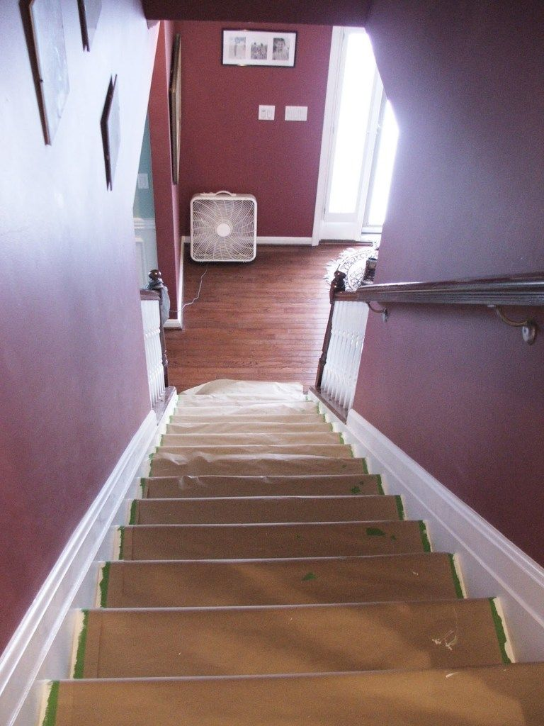 Best 29 Tutorial For Stairway Makeover Carpet To Wooden Treads 640 x 480