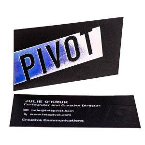 Metallic Foil Business Cards Gold Foil Hot Stamped