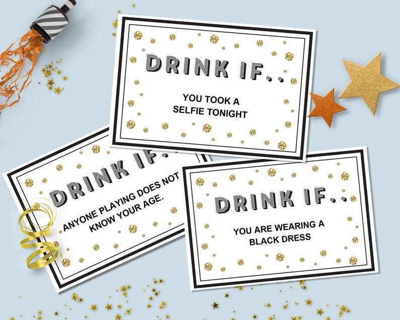 Create your own party drinking game editable printable