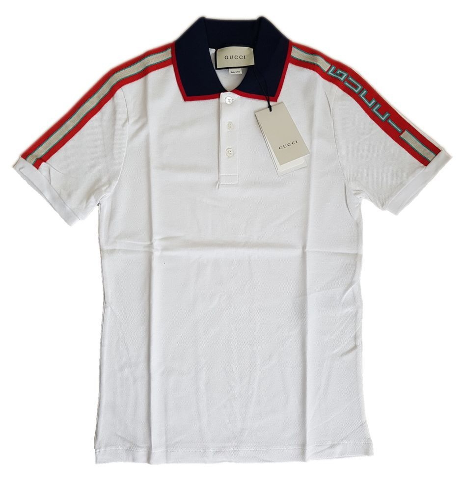 fab4644ec5f Authentic Gucci Cotton Polo shirt with Gucci stripe NWT  fashion  clothing   shoes  accessories  mensclothing  shirts (ebay link)