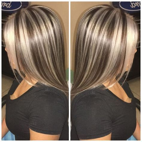 Resultat De Recherche D Images Pour Brown Hair With Chunky Blonde And Auburn Highlights Brown Blonde Hair Brown Hair With Blonde Highlights Hair Styles