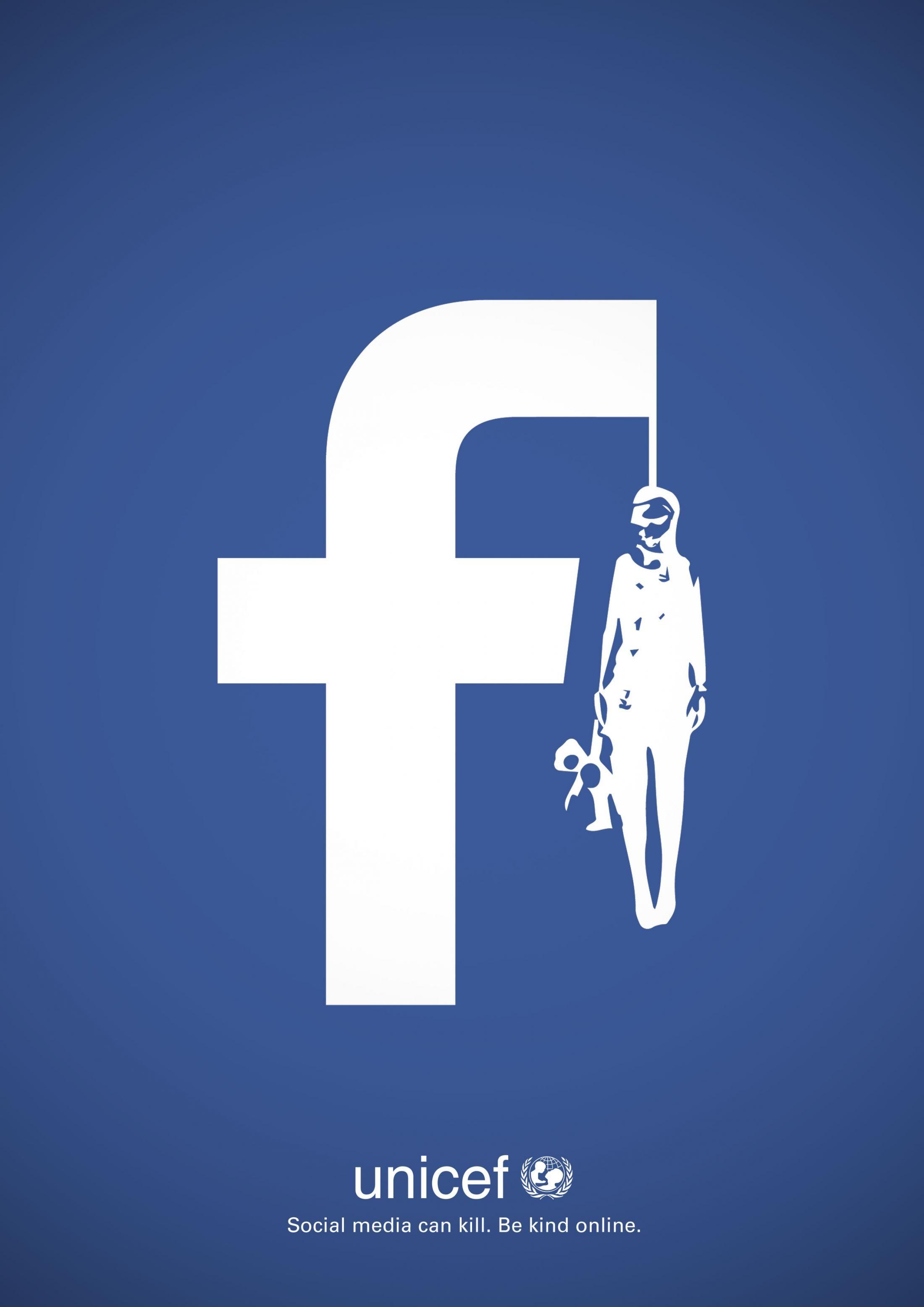Unicef - Facebook Can Kill Social media can kill. Be kind ...