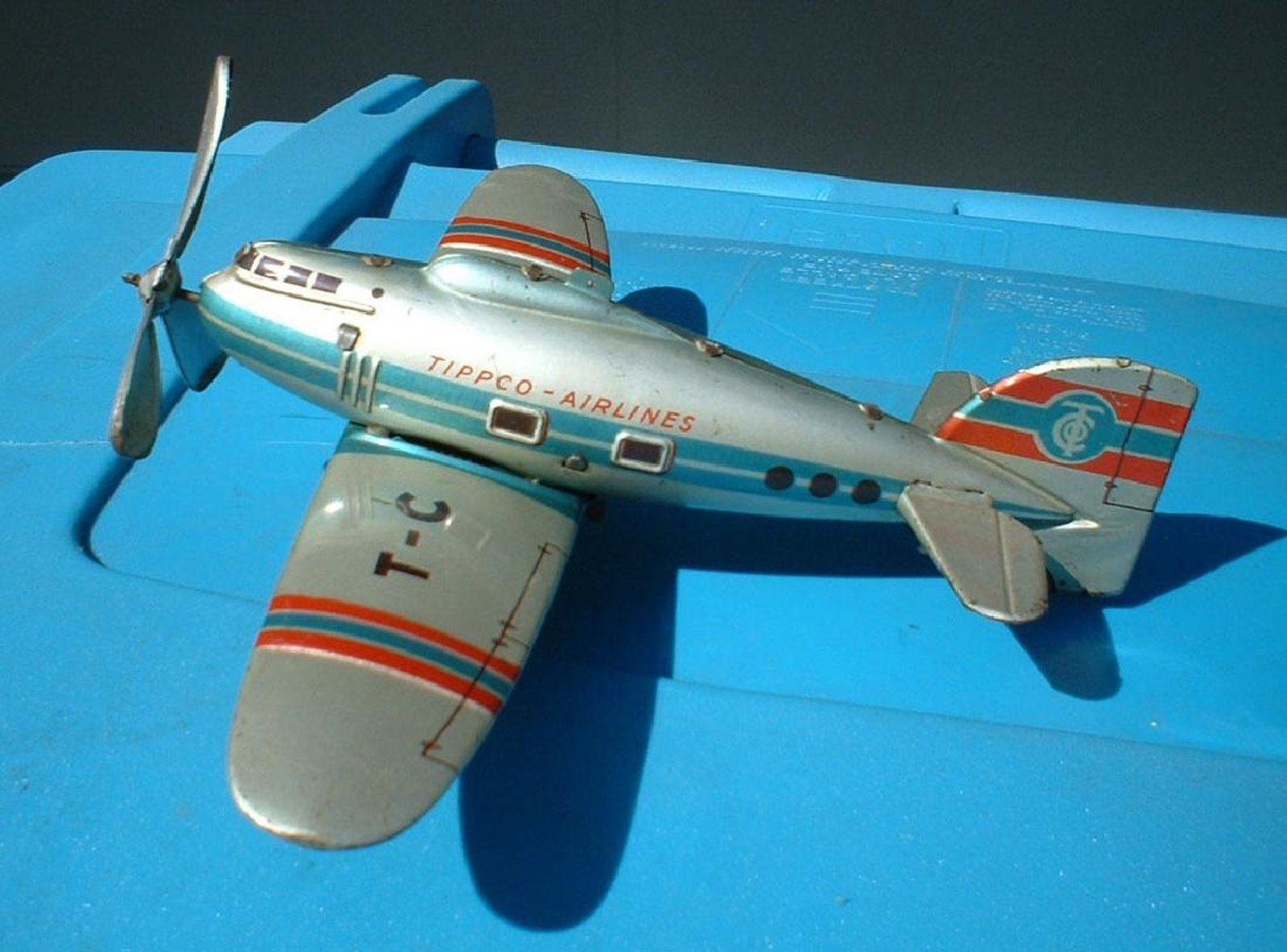 1950 toys images   Tippco plane w turning prop u landing gear    Toys