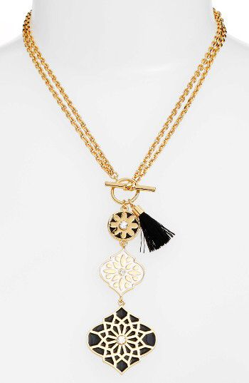 kate spade new york kate spade new york moroccan tile pendant necklace available at #Nordstrom