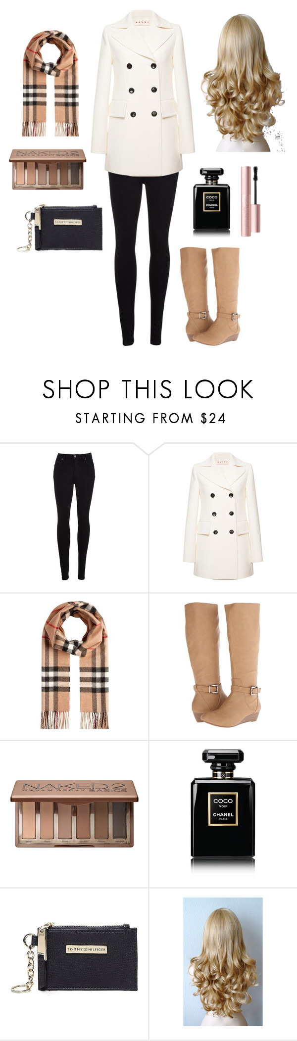 """""""rich girl"""" by ariel-1017 on Polyvore featuring Citizens of Humanity, Marni, Burberry, Jessica Simpson, Urban Decay, Chanel, Tommy Hilfiger and Too Faced Cosmetics"""