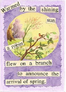 The old picture of the sweet, little bird was my starting point for this altered art card, which is full of hope and promise.